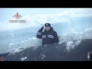 Впервые три атомные подлодки России одновременно в одном месте всплыли под льдами Арктики