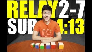Rubik's Cube 2-7 Relay Sub 4:13