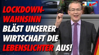 Ihr Lockdown-Wahnsinn bläst unserer Wirtschaft die Lebenslichter aus! - Hansjörg Müller - AfD