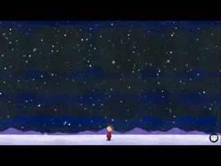 A charlie brown christmas | bgm | snow | mountains | stars | snoopy | house | tree |