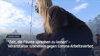 """""""Zeit, die Fäuste sprechen zu lassen"""" – Veranstalter trommeln gegen Corona-Arbeitsverbot"""