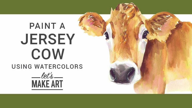 Jersey Cow Watercolor Painting Tutorial with Sarah Cray