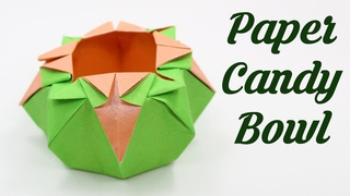 Easter DIY - How to make Paper Candy Bowl, Easy Basic Simple Origami for Kids Paper Crafts work DIY