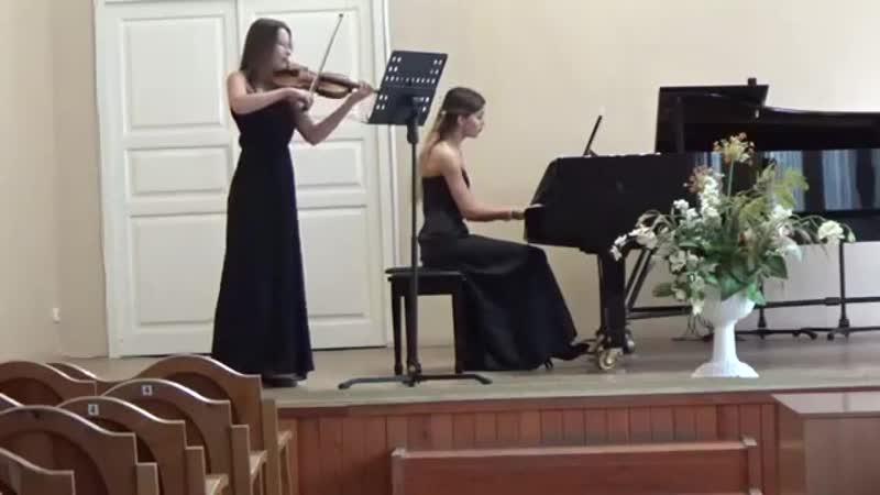 Моцарт Соната для скрипки и фортепиано F dur KV376 1 часть