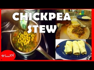 Chickpea Stew and Mustard Greens - Easy One Pot Meal! | Wesss TV