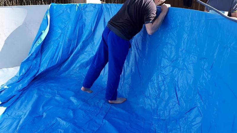 Замена пленки у каркасного бассейна своими руками Как заменить пленку каркасного бассейна