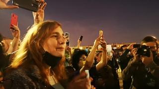 Митинг в Тель-Авиве в поддержку Алексея Навального. #freeNavalny