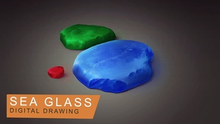 Sea Glass ● Digital Painting ● Photoshop